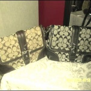 Handbags - black and brown coach bags